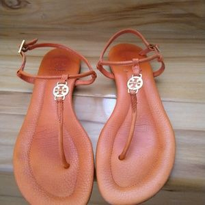 Tory Burch orange sandals size 7